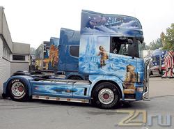 Аэрография на грузовиках